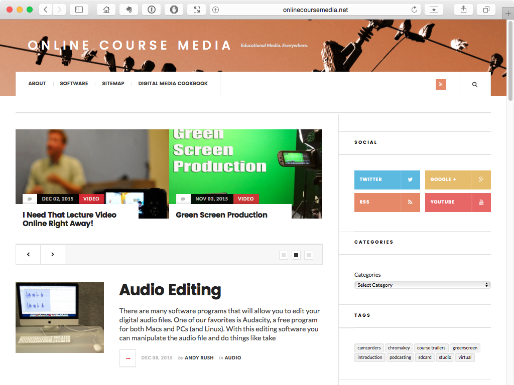 Online Course Media